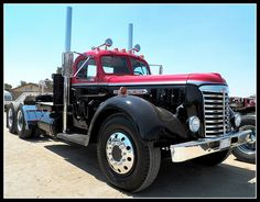 Vintage GMC Big Rig | A great looking old (I'm thinking late… | Flickr