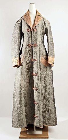 Dressing Gown  Date: ca. 1880  Culture: American or European  Medium: silk