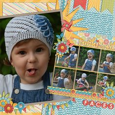Digital Scrapbook Page Inspiration, Cindy Schneider Gallery at the SweetShoppe