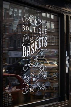 Shop window, amsterdam lettering on things grafik tasarım, tipografi, butik Design Shop, Shop Front Design, Store Design, Web Design, Design Logo, Graphic Design, Design Trends, Window Art, Window Decals
