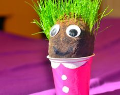 We made Grass heads. Give it a go!
