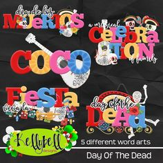 Day of The Dead Word Art