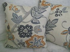 ADANA BY JOHN LEWIS 1 PAIR OF 18  CUSHION COVERS - DOUBLE SIDED & PIPED!