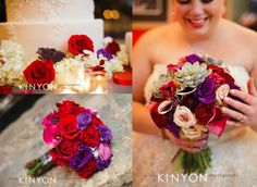 Rich Colorful and Textured Wedding Flowers | Riverside Receptions Wedding | Geneva Wedding Florist