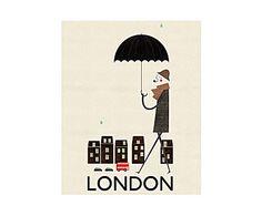 Lienzo Londres, de B. Gomez – 40x50