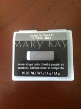 Mary Kay Mineral Eye Color / Shadow ~ granite. Glides on easily and applies smoothly and evenly. Contains vitamins A, C and E to help protect against wrinkle-causing free radicals. Oil-absorbing properties. Crease-resistant. Steel pan fits perfectly into the Mary Kay® Compact. Colors were selected by a professional makeup artist for wearable, everyday looks.