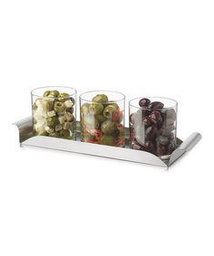 Another great find on #zulily! Modern Bar Condiment Server Set #zulilyfinds