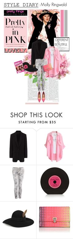 """""""Style Diary : Molly Ringwald in Pretty In Pink"""" by ohmylady ❤ liked on Polyvore featuring Børn, rag & bone, Chicnova Fashion, Current/Elliott, Charlotte Olympia, Yves Saint Laurent, Proenza Schouler and H&M"""