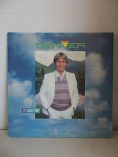 JOHN DENVER It's About Time Gatefold Cover LP Vinyl Record AFL1 4683 RCA 1983 #FolkRock