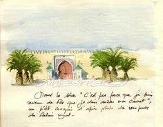 Carnet de voyage - Ouakances. - Carnet du Maroc # 5. -