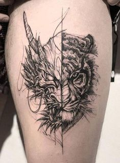 Dragon Tiger Tattoo dragon tattoo tattoo tattoo designs tattoo for men tattoo for women tattoo tattoo tattoo tattoo tattoo tattoo tattoo tattoo ideas big dragon tattoo tattoo ideas Irezumi Tattoos, Leg Tattoos, Body Art Tattoos, Turtle Tattoos, Marquesan Tattoos, Black Tattoos, Tatoos, Dragon Sleeve Tattoos, Japanese Tattoo Art