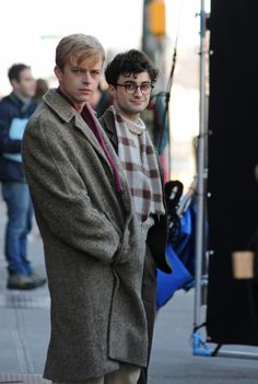 Daniel Radcliffe and Dane DeHaan on the set of 'Kill Your Darlings.' Can't wait.