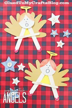 """A"" is for Angel - Popsicle Stick Christmas Kid Craft Idea"