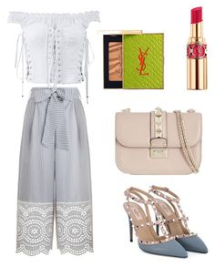 """""""Hippie Light Blue"""" by scarcia-valentina ❤ liked on Polyvore featuring Zimmermann, Dolce&Gabbana, Yves Saint Laurent and Valentino"""