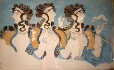 Schildering uit Knossos, Kreta, 2000 BC