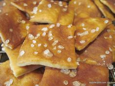 Sourdough Pretzel Crackers...These were fantastic! Simple & delicious- a big hit with the kids.