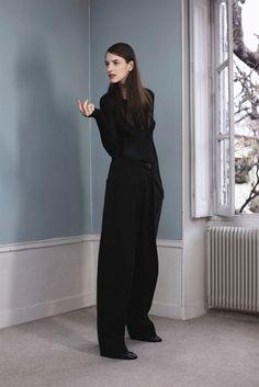 Minimalist, all black.