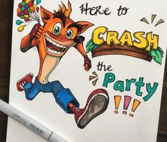 A personal favorite from my Etsy shop https://www.etsy.com/ca/listing/542606430/crash-bandicoot-sony-playstation-funny