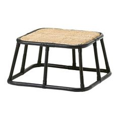 IKEA - NIPPRIG Footstool, Handmade by skilled craftspeople, which makes every product unique in design and size.Furniture made of natural fiber is lightweight, yet sturdy and durable.Plastic feet protect your floor against scratching.