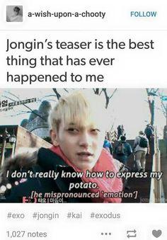 It has always been difficult to express potatoes, Tao. It's okay, we understand.