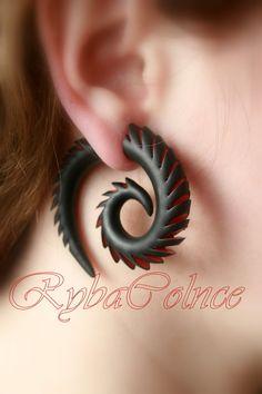 Fausse oreille jauges / Faux calibre/jauges boucles par RybaColnce