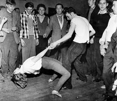 Londoners dancing to Cy Laurie's band at an all-night jazz session c. 1950s | Photographer: Unknown