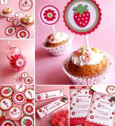 strawberry birthday party - Google Search