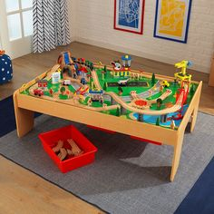 Shop The Waterfall Mountain Train Table Set At KidKraft. Includes Over 100  Piece Train Set. Discover A Wide, Generous Train Table With Tons Of  Interactive ...
