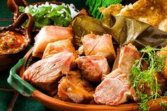 Mexico's classic chunks of fried pork, carnitas are exquisite by themselves or as part of a taco or sandwich. Make them at home with our easy recipe. Mexican Cooking, Mexican Food Recipes, Ethnic Recipes, Mexican Meat, Spanish Recipes, Pork Ham, Fried Pork, Pork Roast, How To Make Carnitas
