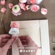 DIY this Beautiful Floral Picture Frame - It's the Perfect Valentine's Gift! 100+ DIYs on the Darby Smart App! http://apple.co/29y6j97
