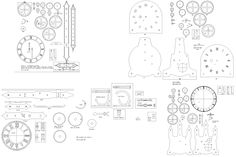 gear clock plan - Google Search