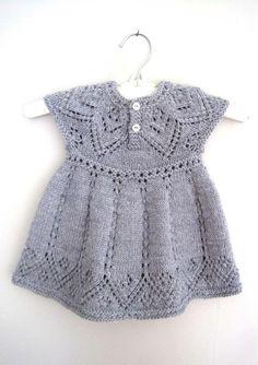 Pippa Dress knitting pattern by Suzie Sparkles, . Pippa Dress knitting pattern by Suzie Sparkles, Source Lace Patterns, Baby Knitting Patterns, Dress Patterns, Pretty Patterns, Knitting Ideas, Knitting Stitches, Crochet Baby, Knit Crochet, Pippa Dress