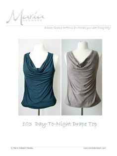 103 - Day-To-Night Drape Top pattern on Craftsy.com $6.95 Diy Clothing, Sewing Clothes, Clothing Patterns, Sewing Patterns, Knit Patterns, Textiles, My Style, Sewing Projects, Sewing Tips
