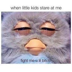 "No,not kidding you I think this all the time when people star at me even my classmates(who I hate)I be like""what are you staring at lol bitch I will fight and and probs get sued but what I'm trying to say is""fuck you""and ""stop sarong at me bitch""even is it's a boy."