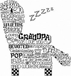 Lets Visit Grandpa cross stitch pattern.