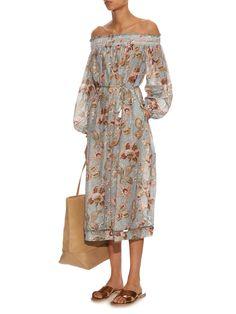 Pavilion off-the-shoulder smock dress | Zimmermann | MATCHESFASHION.COM UK