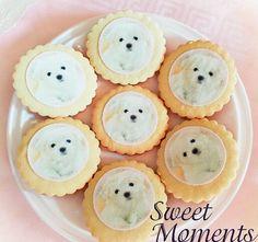 Galletas decoradas con papel de azúcar temática Bichón Francés #sweetmoments