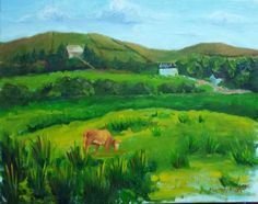 Original oil on canvas painting by Tiffany Aron. Depicts the Ireland countryside in an impressionistic style. More of her work can be found on her face book page www.facebook.com/fineartbytiffanyaron