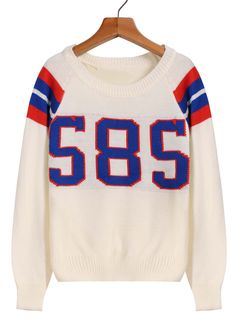 585 Print Knit Sweater 13.33
