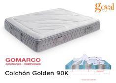 Colchón modelo Golden de Gomarco con Visco 90K Perfilada + Núcleo Aquapur. De gran adaptabilidad e independencia de lechos.