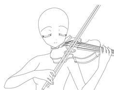 Anime girl, playing, violin; How to Draw Manga/Anime