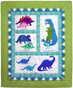 Dinosaur quilt - with names