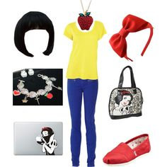 """""""Snow White inspired outfit"""" by jenna-bo-benna on Polyvore"""