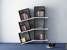 DECORTIE BALANCE Modern luxury bookcase unique shelving unit. Contemporary living room furniture, best deals in the UK. cheap discounted bookcase offers. white black