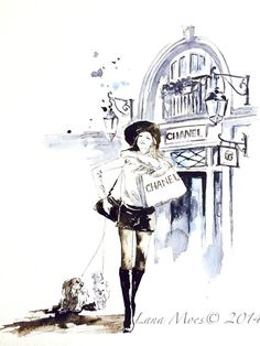 Hey, I found this really awesome Etsy listing at https://www.etsy.com/listing/205869948/chanel-shopping-in-paris-print-from