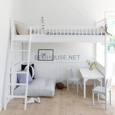 17 Marvelous Space-Saving Loft Bed Designs Which Are Ideal For Small Homes. 17 Marvelous Space Saving Loft Bed Designs Which Are Ideal For Small Homes. Dream Rooms, Dream Bedroom, Girls Bedroom, Bedroom Loft, Mezzanine Bedroom, Attic Bedrooms, Bedroom Small, Mezzanine Floor, Loft Bed Room Ideas