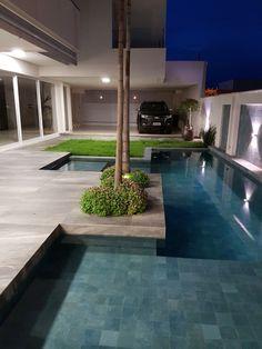 Backyard Pool Designs, Small Backyard Pools, Swimming Pools Backyard, Swimming Pool Designs, Pool Landscaping, Pool Landscape Design, Terrace Design, Outdoor Garden Rooms, Outdoor Decor