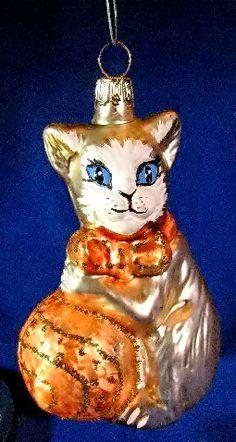 Black Cat SM Kitten European Blown Glass Christmas Ornament  eBay