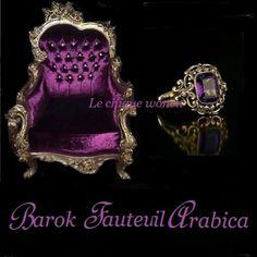 Barok fauteuil Arabica Gold Purple | Le Chique Wonen