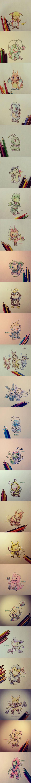 Pokemons con ropita de sus evoluciones. :'O